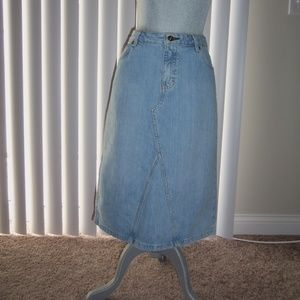 Vintage Tommy Hilfiger Denim Skirt Size 10